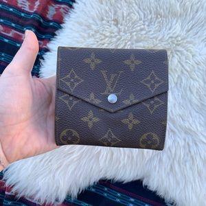 Louis Vuitton wallet monogram trifold coin purse